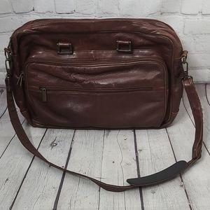 Vintage Bill Blass Brown Leather Laptop Bag